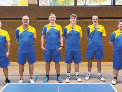 TSG Tischtennisherren gewinnen Heimspiel!